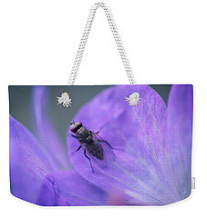 Purple Fly Weekender Tote Bag