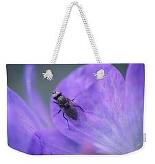 Purple Fly Weekender Tote Bag