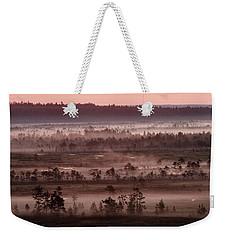Purple Fog On Swamp Weekender Tote Bag by Teemu Tretjakov