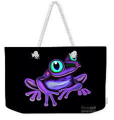 Weekender Tote Bag featuring the painting Purple Frog  by Nick Gustafson