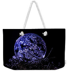 Purple Frozen Bubble Art Weekender Tote Bag