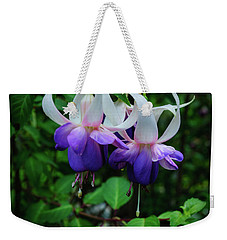 Weekender Tote Bag featuring the photograph Purple Fuschia by Tikvah's Hope