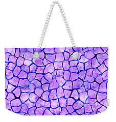 Purple Giraffe Print Weekender Tote Bag