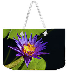 Weekender Tote Bag featuring the photograph Purple Gold by Steve Stuller