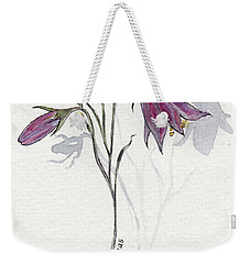 Purple Harebell Weekender Tote Bag
