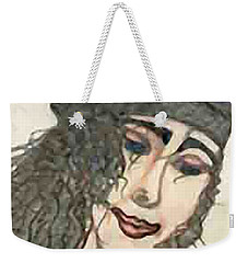 Purple Hat Weekender Tote Bag