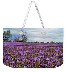 Weekender Tote Bag featuring the photograph Purple Haze by Cricket Hackmann