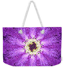 Weekender Tote Bag featuring the photograph Purple Haze by Kristin Elmquist