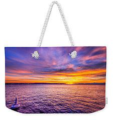 Purple Haze Sunset Weekender Tote Bag