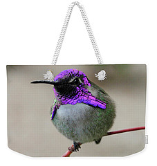 Purple Headed Hummer Weekender Tote Bag