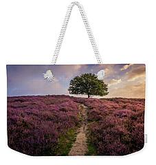 Purple Hill Weekender Tote Bag