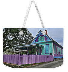 Purple House Weekender Tote Bag by Ronald Olivier