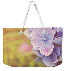 Weekender Tote Bag featuring the photograph Purple Hydrangea by Lyn Randle