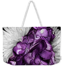 Purple In The White Weekender Tote Bag