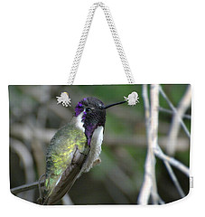 Weekender Tote Bag featuring the photograph Purple Iridescence 2 by Fraida Gutovich