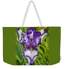 Purple Iris Art Weekender Tote Bag