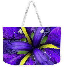 Purple Iris Centre Weekender Tote Bag
