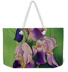 Purple Iris' Weekender Tote Bag