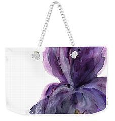 Purple Iris Weekender Tote Bag by Dawn Derman
