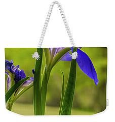 Purple Iris Weekender Tote Bag