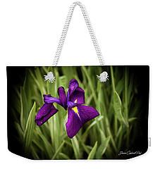 Purple Japanese Iris Weekender Tote Bag