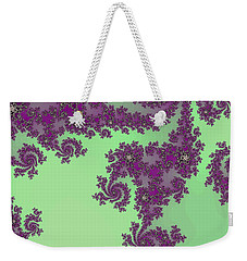 Purple Lace Weekender Tote Bag