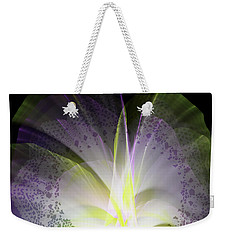 Purple Lace Weekender Tote Bag by Melissa Messick