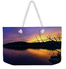 Purple Lake Weekender Tote Bag