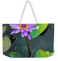 Purple Lilly With Lilly Pads Weekender Tote Bag