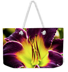 Purple Lily - Close Up Weekender Tote Bag