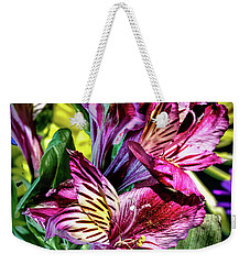 Purple Lily Weekender Tote Bag