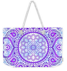 Purple Lotus Mandala Weekender Tote Bag by Tammy Wetzel