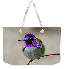 Purple Metal Weekender Tote Bag