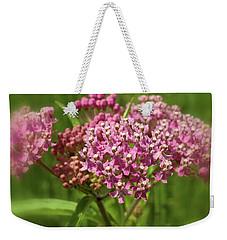 Purple Milkweed Weekender Tote Bag