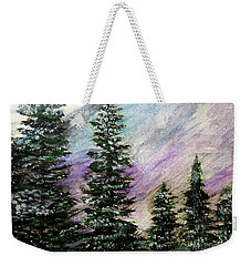 Purple Mountain Majesty Weekender Tote Bag by Scott D Van Osdol