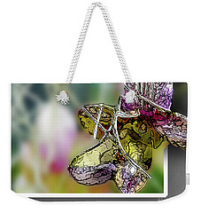 Purple Orchid Pop Weekender Tote Bag