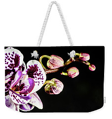 Purple Orchid Reaching Out Weekender Tote Bag