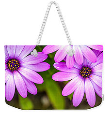 Purple Petals Weekender Tote Bag