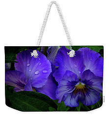 Purple Pansies Weekender Tote Bag