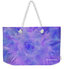 Weekender Tote Bag featuring the digital art Purple Passion By Sherriofpalmspringsflower Art-digital Painting  Photography Enhancements Tradition by Sherri Of Palm Springs