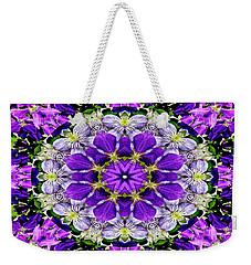 Purple Passion Floral Design Weekender Tote Bag by Carol F Austin