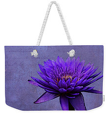 Weekender Tote Bag featuring the photograph Purple Passion by Judy Vincent