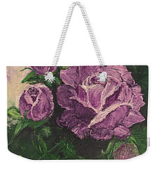 Purple Passion Weekender Tote Bag by Lucia Grilletto