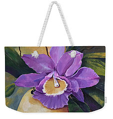 Purple Passion Orchid Weekender Tote Bag