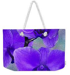 Purple Passion Orchid Weekender Tote Bag by Kathy M Krause