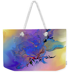 Weekender Tote Bag featuring the painting Purple Passion Peony by Hanne Lore Koehler