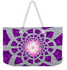 Purple Patched Weekender Tote Bag