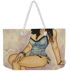 Purple Pinup Weekender Tote Bag