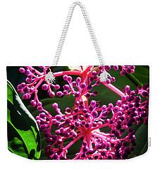 Purple Plant Weekender Tote Bag