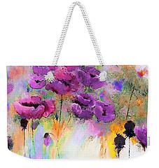 Purple Poppy Passion Painting Weekender Tote Bag